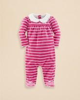 Ralph Lauren Infant Girls' Velour Stripe Footie - Sizes 3-9 Months