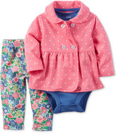 Carter's 3-Pc. Jacket, Bodysuit & Leggings Set, Baby Girls (0-24 months)