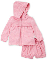 Rene Rofe Newborn Girls) Two-Piece Zip-Up Hoodie & Shorts Set