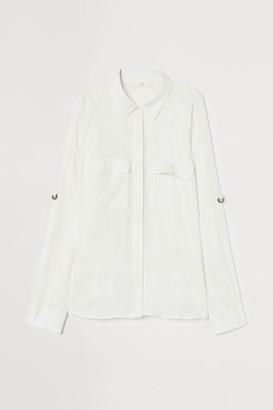 H&M Viscose utility shirt