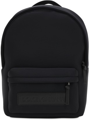 Dolce & Gabbana Logo Patch Neoprene Backpack