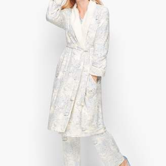 Talbots Sherpa Lined Robe - Toile Print