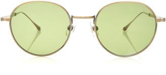 Matsuda Eyewear Gold-Tone Metal Round-Frame Sunglasses