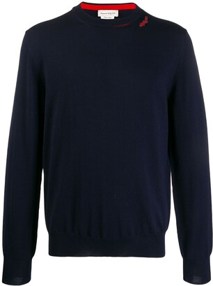 Alexander McQueen Logo Patch Knitted Jumper