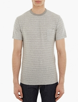 Officine Generale Grey Japanese Marl Pocket T-Shirt