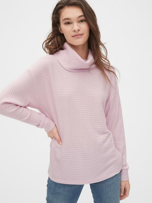 Gap Ribbed Funnel-Neck Pullover Sweater