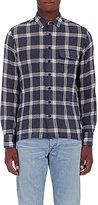 Simon Miller Men's Plaid Wool Shirt-GREY