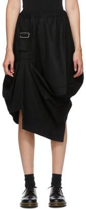 Comme des Garçons Comme des Garçons Black Wool Harness Pull Skirt