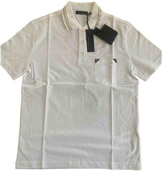 Versace White Cotton Polo shirts