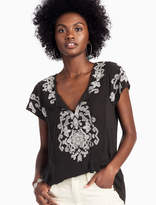 Lucky Brand Embroidered Tassel Tee