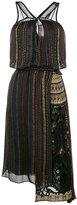 No.21 striped asymmetric dress - women - Silk - 40