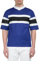 Thumbnail for your product : Ami Striped Short-Sleeve T-Shirt