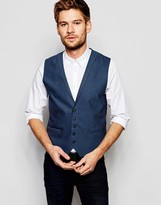 Selected Vest with Lapel in Skinny Fit