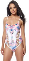 Red Carter Dream Catcher Cut Out Strappy One Piece Swimsuit 8140143