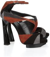 Pierre Hardy Geometric suede sandals