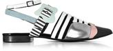 Pierre Hardy Multicolor Stripes Leather Alchimia Flat Sandal
