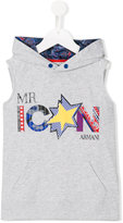Armani Junior Mr Icon print hoody - kids - Cotton/Polyester - 6 yrs