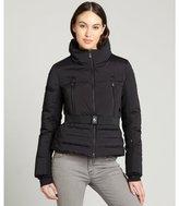 Moncler nero puffer 'Melbreak' belted coat