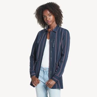 Tommy Hilfiger Essential Stripe Zip Shirt Jacket
