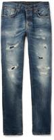 Nudie Jeans Grim Tim Distressed Organic Denim Jeans