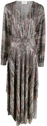 BA&SH Sant metallic maxi dress
