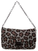 Anya Hindmarch Leopard Print Ponyhair Flap Bag