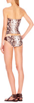 Michael Kors MICHAEL Snake-Print Bandeau Top & Swim Bottom