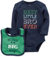 Carter's 2-Pc. Best Little Bro Cotton Bodysuit and Bib Set, Baby Boys (0-24 months)