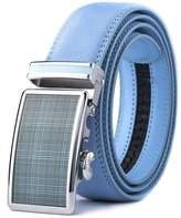 XHtang Men's Ratchet Belt Automatic Buckle Leather Belt 35mm Wide