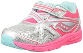 Saucony Girls Baby Ride (Inf/Tod) - Silver/Coral - 7 Toddler