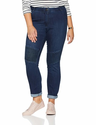 Ulla Popken Women's Jeanshose mit Biesen Sammy Slim Jeans