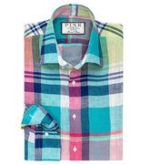 Thomas Pink Summerfield Check Slim Fit Button Cuff Shirt
