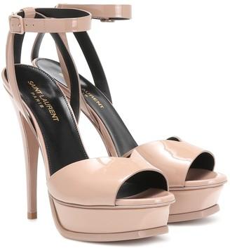 Saint Laurent Tribute Lips 105 patent-leather platform sandals