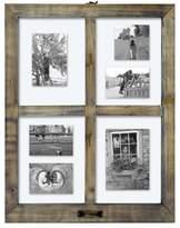 Threshold 4 Opening Windowpane Collage Frame Weathered Wood