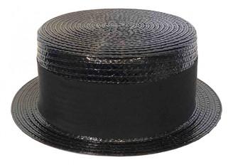 Saint Laurent Black Wicker Hats