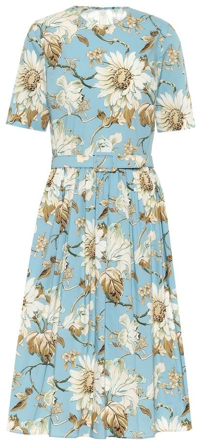 Vintage Daisy Striped Dress  Floral Silken Dress  Baby Blue Daisy Floral Dress  Soviet Union Made dress