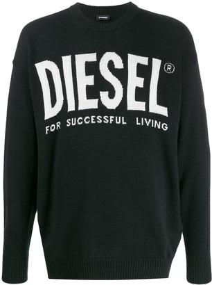 Diesel Intarsia-Knit Logo Jumper