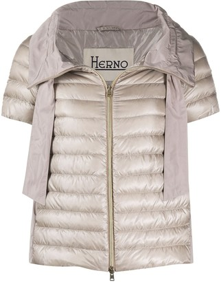 Herno short sleeve puffer jacket