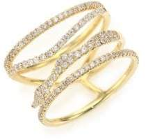 Meira T Diamond& 14K Yellow Gold Multi-Band Ring