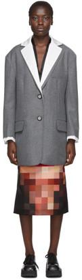 Marni White and Grey Masculine Blazer