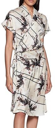 Equipment Leonce Floral Silk Wrap Dress