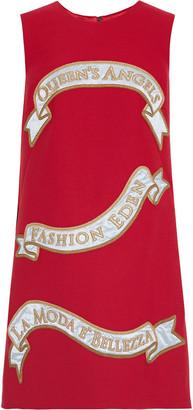 Dolce & Gabbana Appliqued Twill Mini Dress
