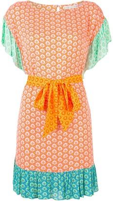 Alice + Olivia Floral Tie-Waist Mini Dress