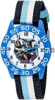 Marvel Boy's 'Civil War' Quartz Plastic and Nylon Automatic Watch, Color:Blue (Model: W003125)