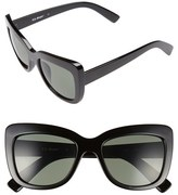 A. J. Morgan Women's A.j. Morgan 'Lift' 50Mm Cat Eye Sunglasses - Black