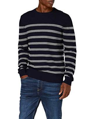 find. PHRL32 Mens Jumpers, Multicolour (Navy/Grey Marl), (Size:L)
