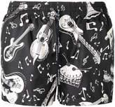 Dolce & Gabbana musical instrument swimming trunks