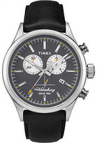 Timex Men's Waterbury Chronograph | Black Dial & Leather Band | Casual TW2P75500