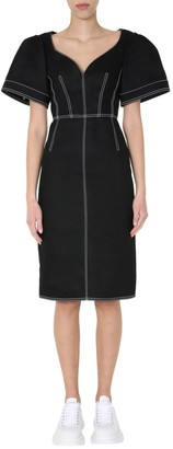 Alexander McQueen Fitted Midi Dress