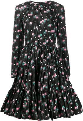 Miu Miu floral print flared midi dress